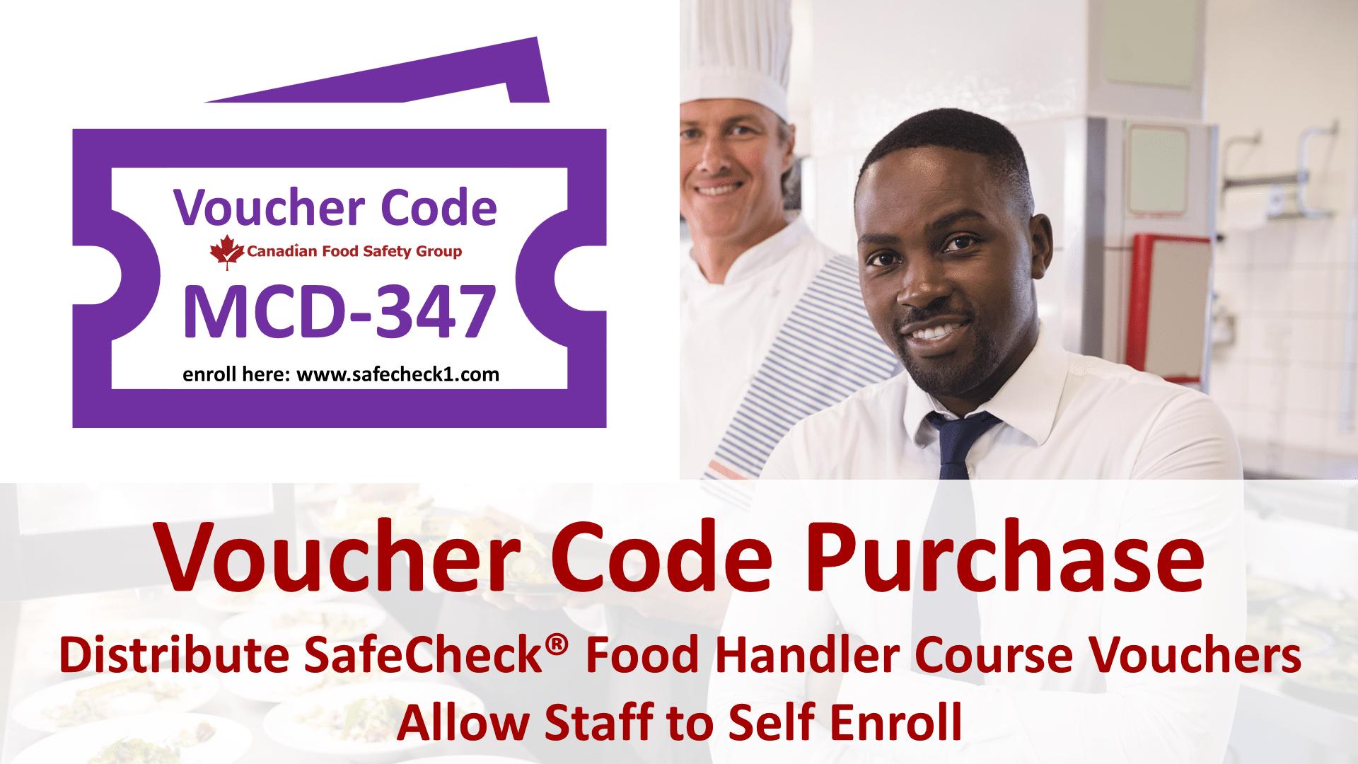 SafeCheck Food Handler Course Voucher Code Purchase