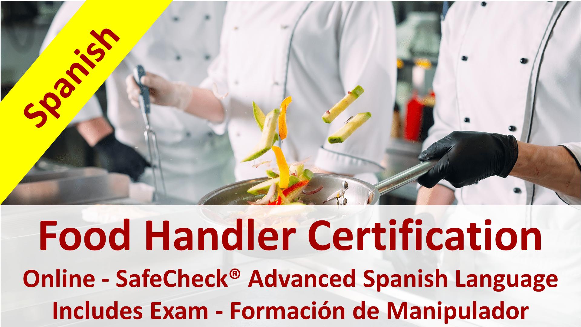Image of the SafeCheck Spanish Language Food Handler Course