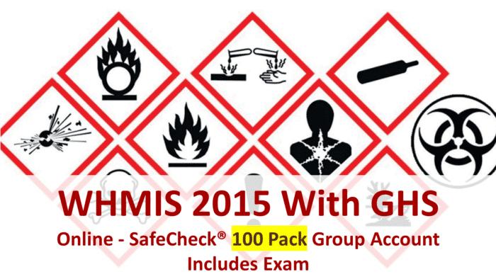WHMIS 2015-100 Pack
