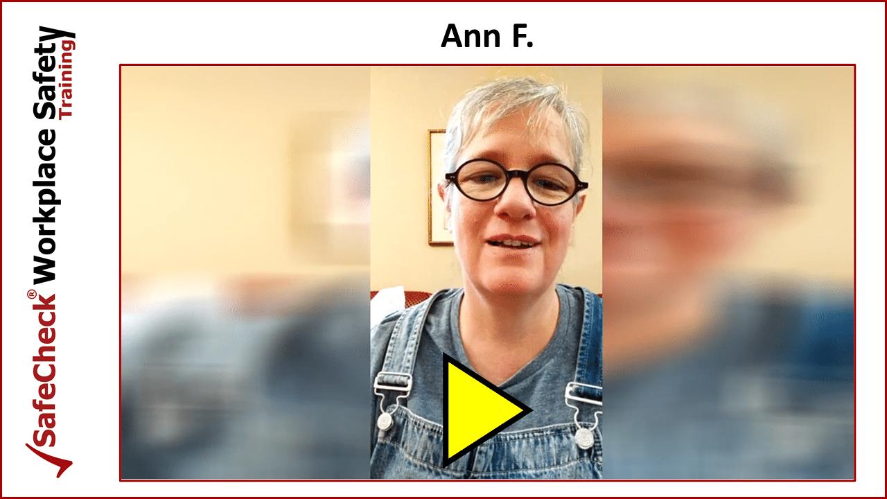 SafeCheck Client Ann F.