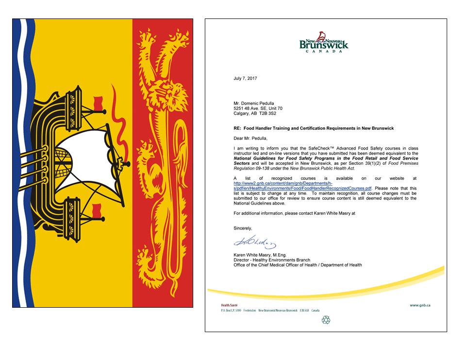 New Brunswick Approval