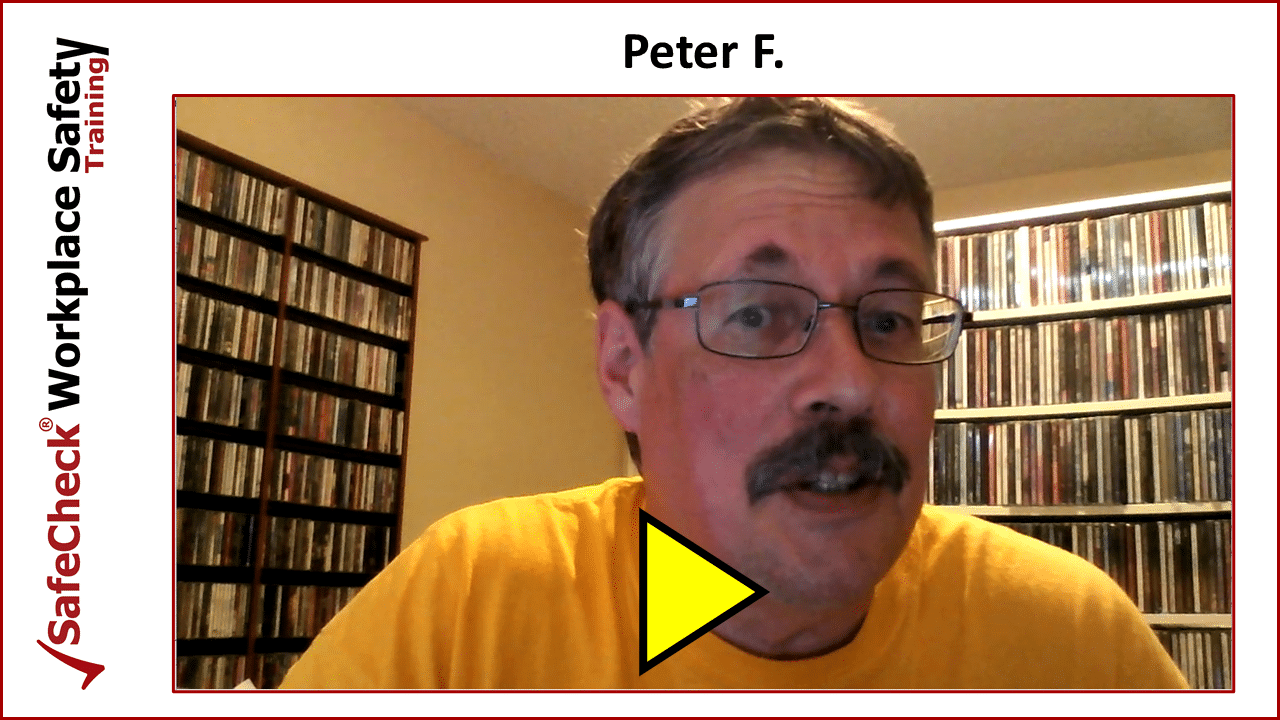 SafeCheck Client Peter F.