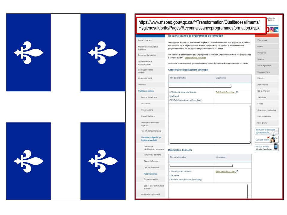 Quebec Approval