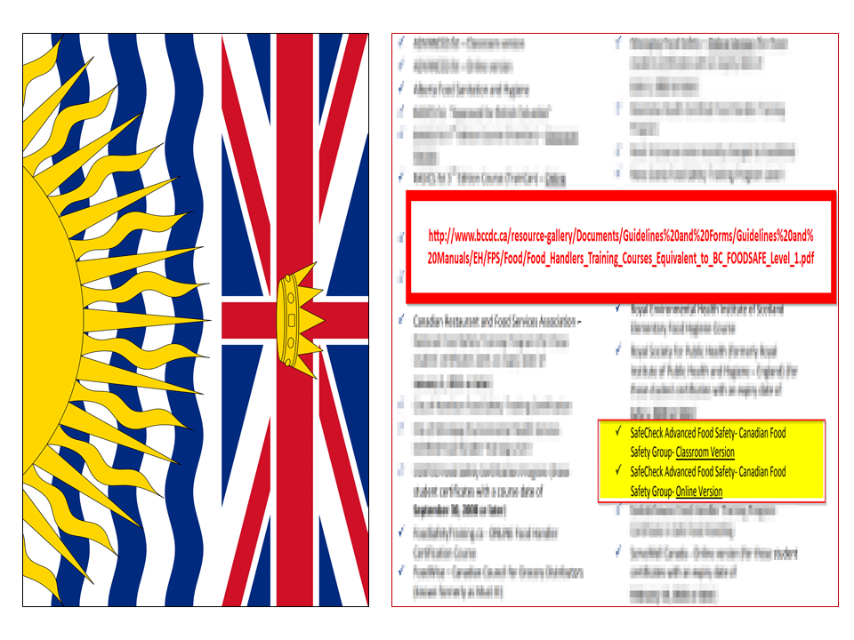 British Columbia Approval