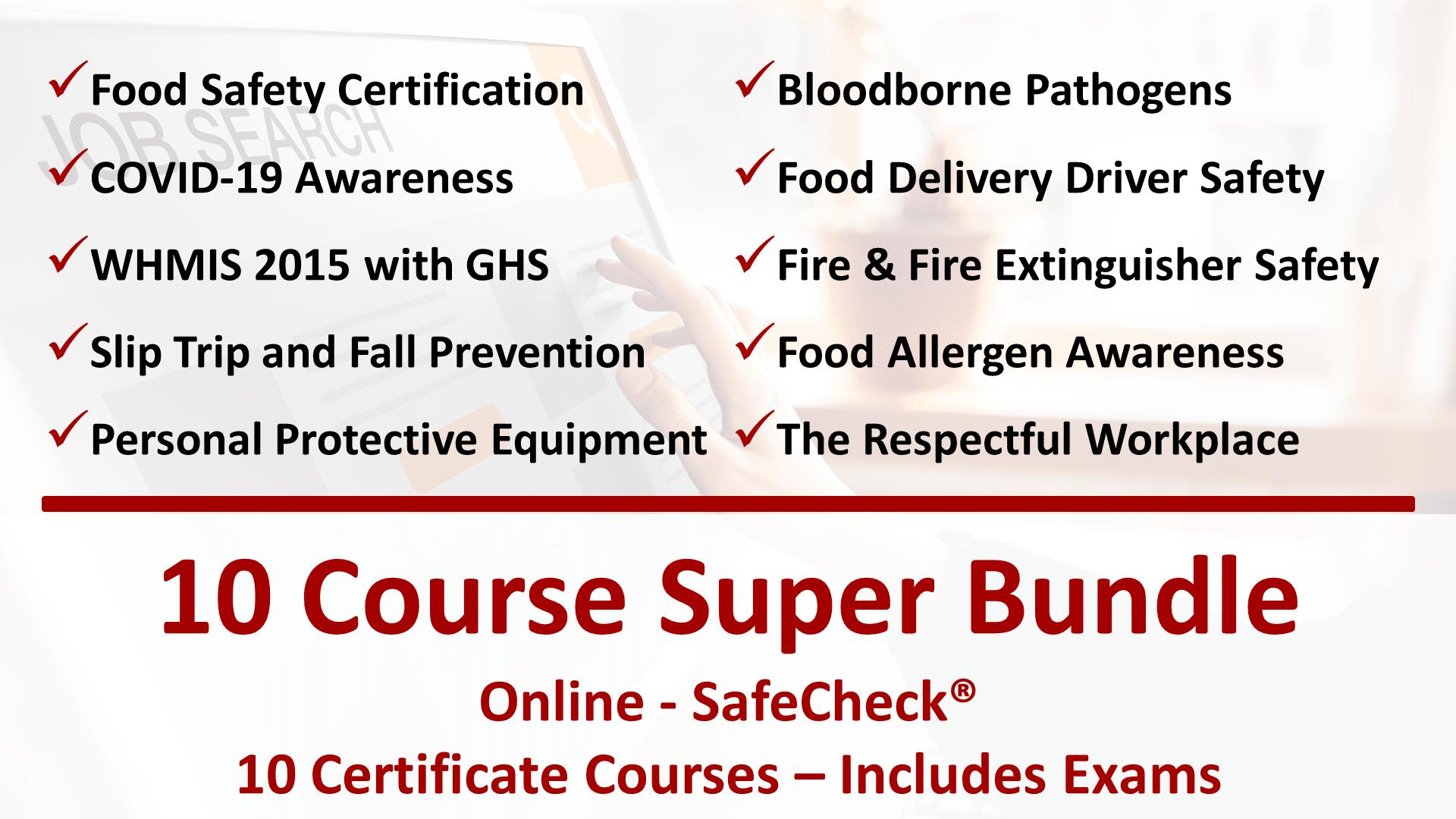 10 Course SafeCheck Super Bundle Offer