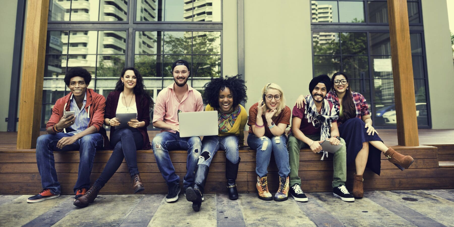 SafeCheck College Students Teamwork