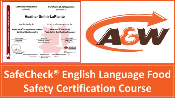 A&W English Language Food Safety