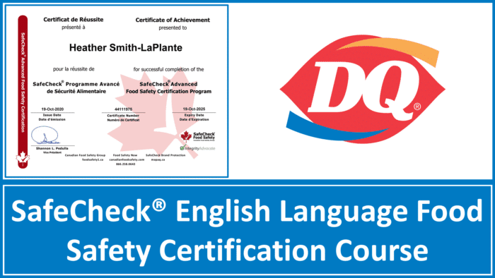 Dairy Queen - SafeCheck Advanced Food Safety Certification Couse